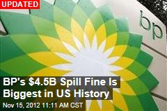 BP Spill Fine Will Be History&amp;#39;s Biggest