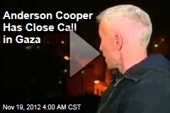 Bomb Explodes Near Anderson Cooper During Gaza Report