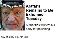 Arafat's Remains to Be Exhumed Tuesday