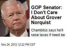 GOP Senator: I Don&amp;#39;t Care About Grover Norquist
