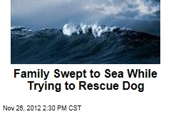Family Swept to Sea While Trying to Rescue Dog