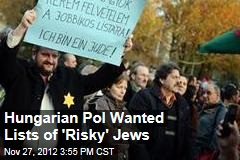 Hungarian Pol Wanted Lists of 'Risky' Jews