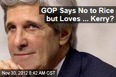 GOP Says No to Rice but Loves ... Kerry?