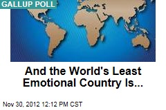 And the World's Least Emotional Country Is...