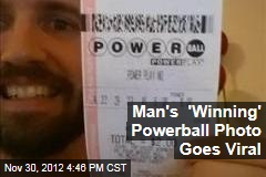 Man's 'Winning' Powerball Photo Goes Viral