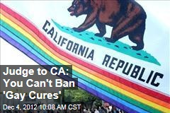 Judge to CA: You Can't Ban 'Gay Cures'