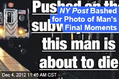 NY Post Bashed for Photo of Man's Final Moments