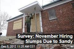 Survey: November Hiring Slumps Due to Sandy
