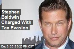Stephen Baldwin Charged With Tax Evasion