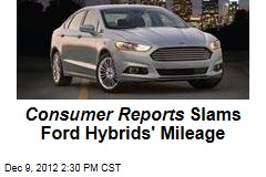 Consumer Reports Slams Ford Hybrids' Mileage