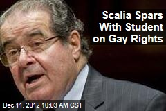 Scalia Spars With Student on Gay Rights