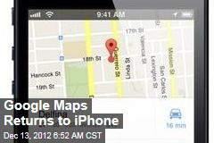 Google Maps Returns to iPhone