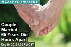 Couple Married 65 Years Die Hours Apart