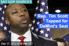 Rep. Tim Scott Tapped for DeMint&amp;#39;s Seat