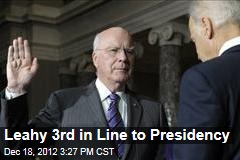 Leahy 3rd in Line to Presidency