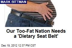 Our Too-Fat Nation Needs a &amp;#39;Dietary Seat Belt&amp;#39;