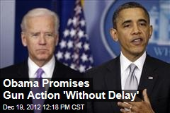 Obama Promises Gun Action &amp;#39;Without Delay&amp;#39;