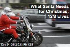 What Santa Needs for Christmas: 12M Elves
