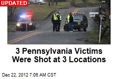 3 Pennsylvania Victims Were Shot at 3 Locations