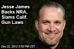 Jesse James Backs NRA, Slams Calif. Gun Laws