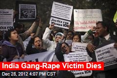 India Gang Rape Victim Dies