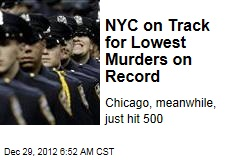 NYC on Track for Lowest Murders on Record