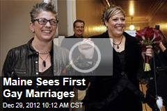Maine Sees First Gay Marriages