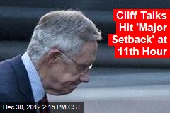 Cliff Talks Hit 'Major Setback' at 11th Hour