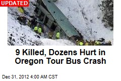 5 killed in Oregon Tour Bus Crash on I-84