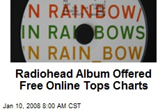 Radiohead Album Offered Free Online Tops Charts