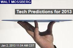 Tech Predictions for 2013