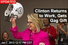 Clinton Back to Work Today