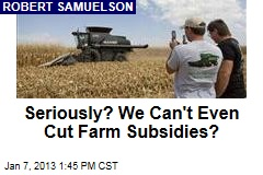 Seriously? We Can&amp;#39;t Even Cut Farm Subsidies?
