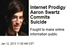Internet Prodigy Aaron Swartz Commits Suicide