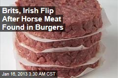 Brits, Irish Flip After Horse Meat Found in Burgers