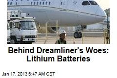 Dreamliner's Woes Blamed on Lithium Batteries