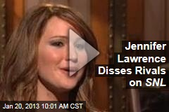 Jennifer Lawrence Disses Rivals on SNL