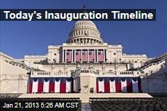 Today's Inauguration Timeline