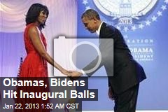 Obamas, Bidens Hit Inaugural Balls