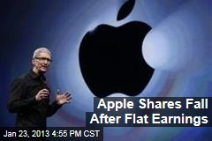 Apple Shares Fall After Flat Earnings