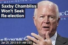 Saxby Chambliss Won't Seek Re-election