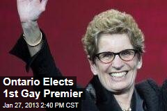 Ontario Elects 1st Gay Premier