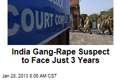 India Gang-Rape Suspect to Face Just 3 Years