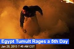 Egypt Tumult Rages a 5th Day