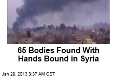 65 Bodies Found With Hands Bound in Syria