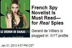 French Spy Novelist Is Must Read— for Real Spies