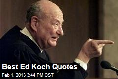 Best Ed Koch Quotes
