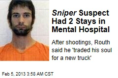 Sniper Suspect Had Been in Mental Hospital