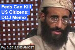 Justice Memo Makes Case for Killing US Citizens