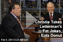 Christie Takes Letterman's Fat Jokes, Eats Donut